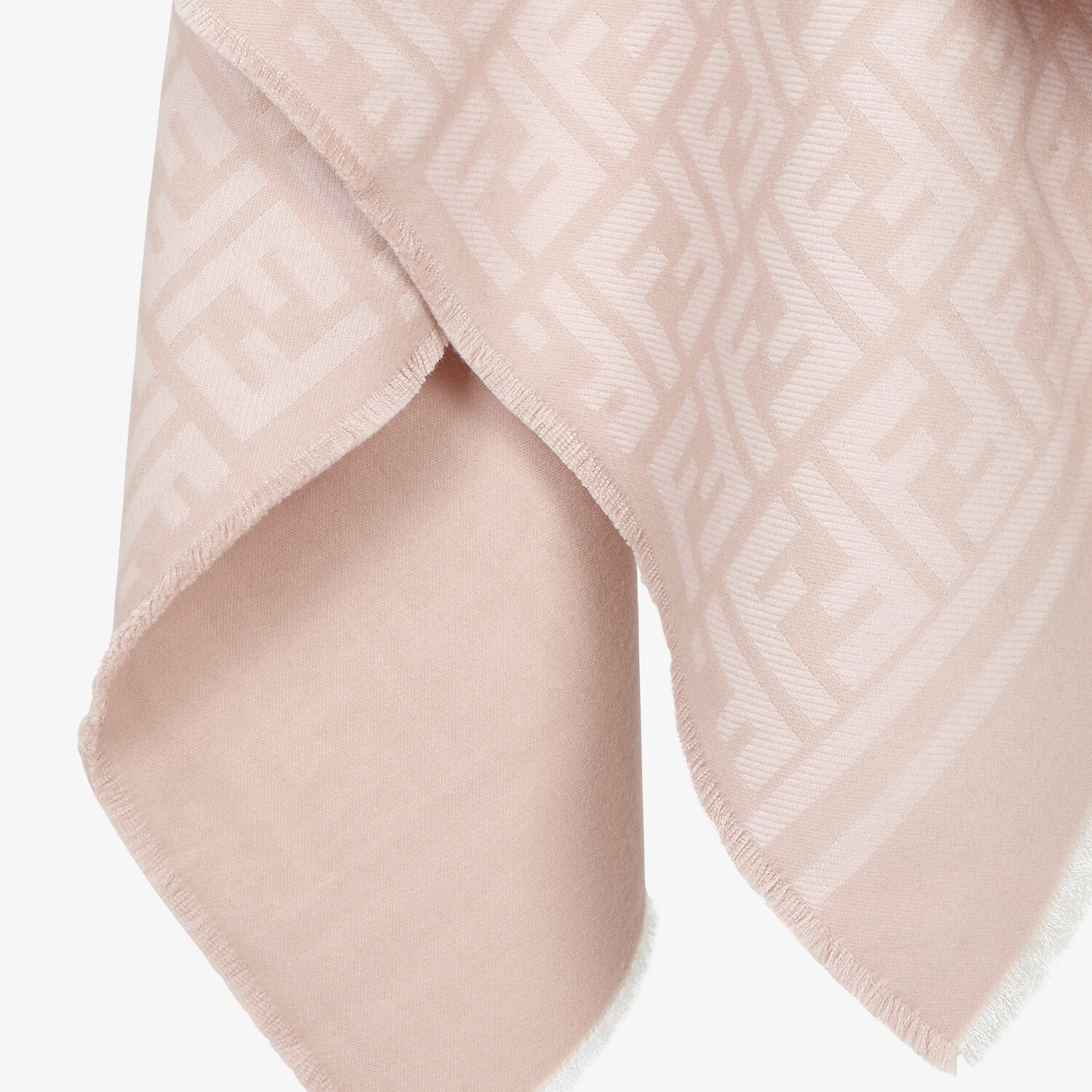FENDI PONCHO - Poncho in pink wool and silk - view 3 detail