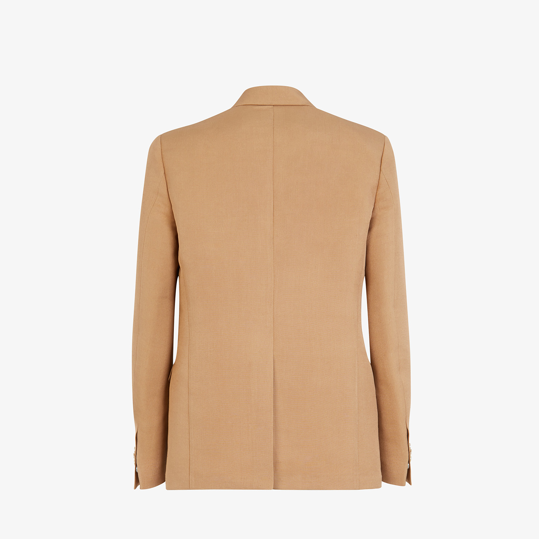 FENDI JACKET - Blazer in brown silk - view 2 detail