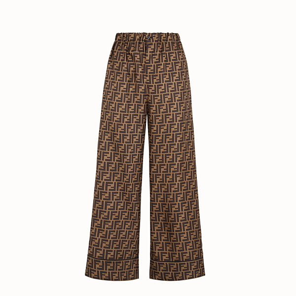 FENDI PANTALON - Pantalon en sergé marron - view 1 small thumbnail
