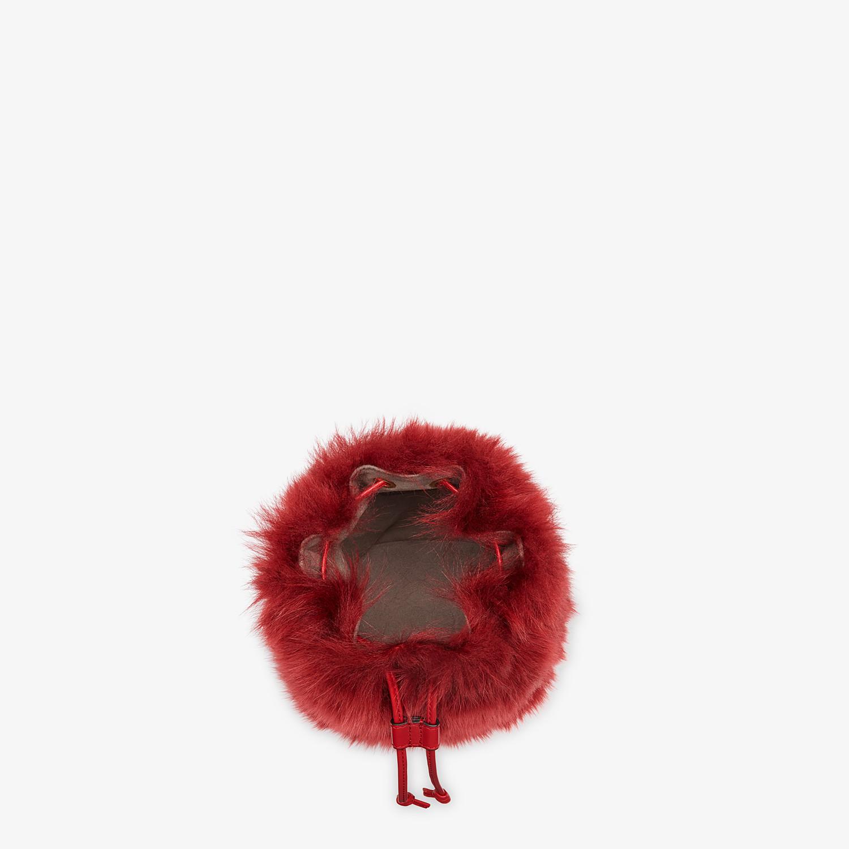 FENDI MON TRESOR - Minibag in montone rosso - vista 4 dettaglio