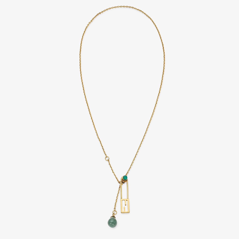 FENDI BAGUETTE NECKLACE - Gold-colored necklace - view 1 detail