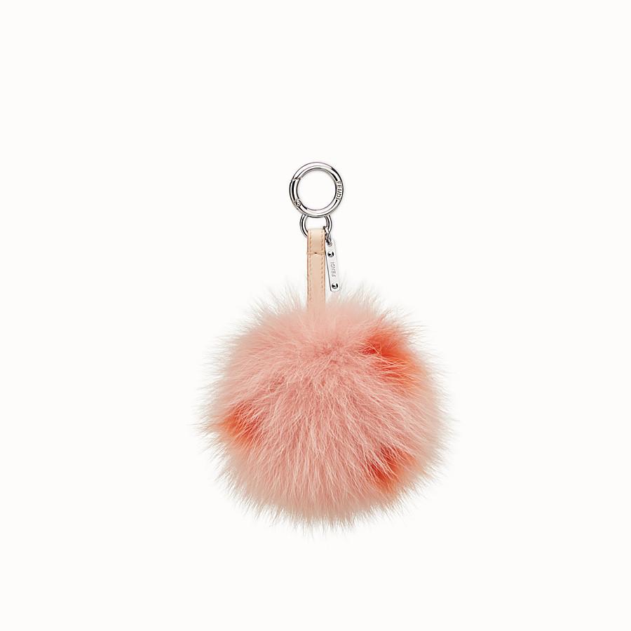 FENDI CHARM POMPON - Charm in pelliccia rosa - vista 1 dettaglio