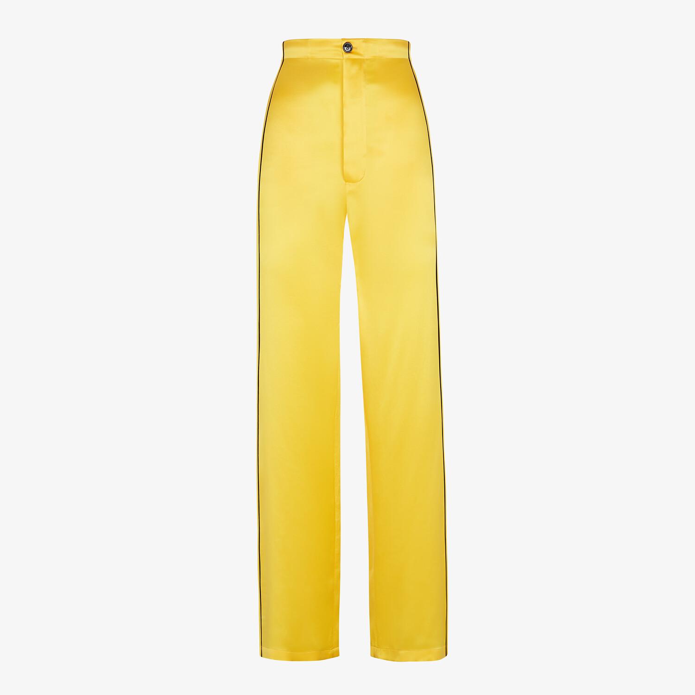 FENDI PAJAMAS - Yellow silk pajamas - view 4 detail