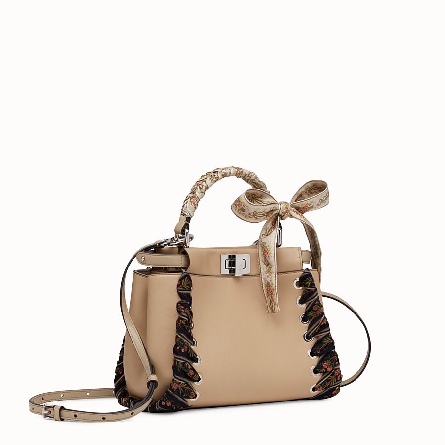 FENDI PEEKABOO MINI - light brown leather handbag - view 2 detail