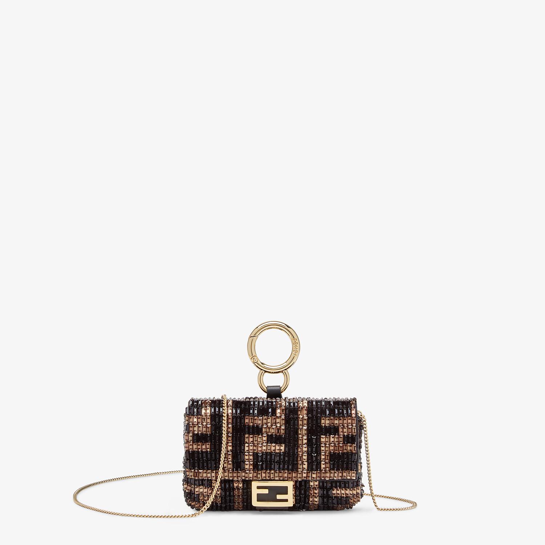 FENDI NANO BAGUETTE CHARM - Charm with brown beads - view 1 detail