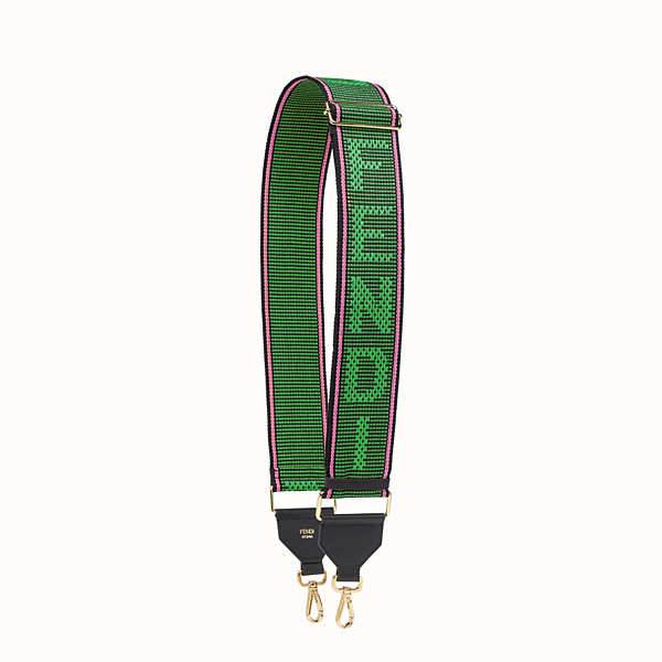 FENDI STRAP YOU - Green ribbon shoulder strap - view 1 small thumbnail