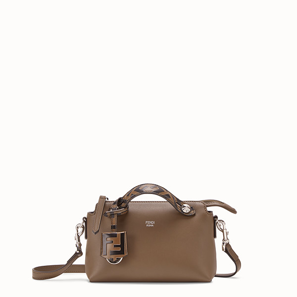 FENDI BY THE WAY MINI - Small brown leather Boston bag - view 1 small thumbnail