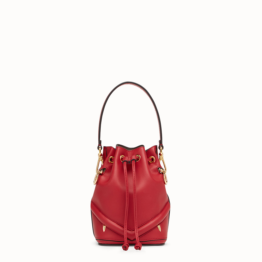 FENDI MON TRESOR - Mini-Tasche aus Leder in Rot - view 1 detail
