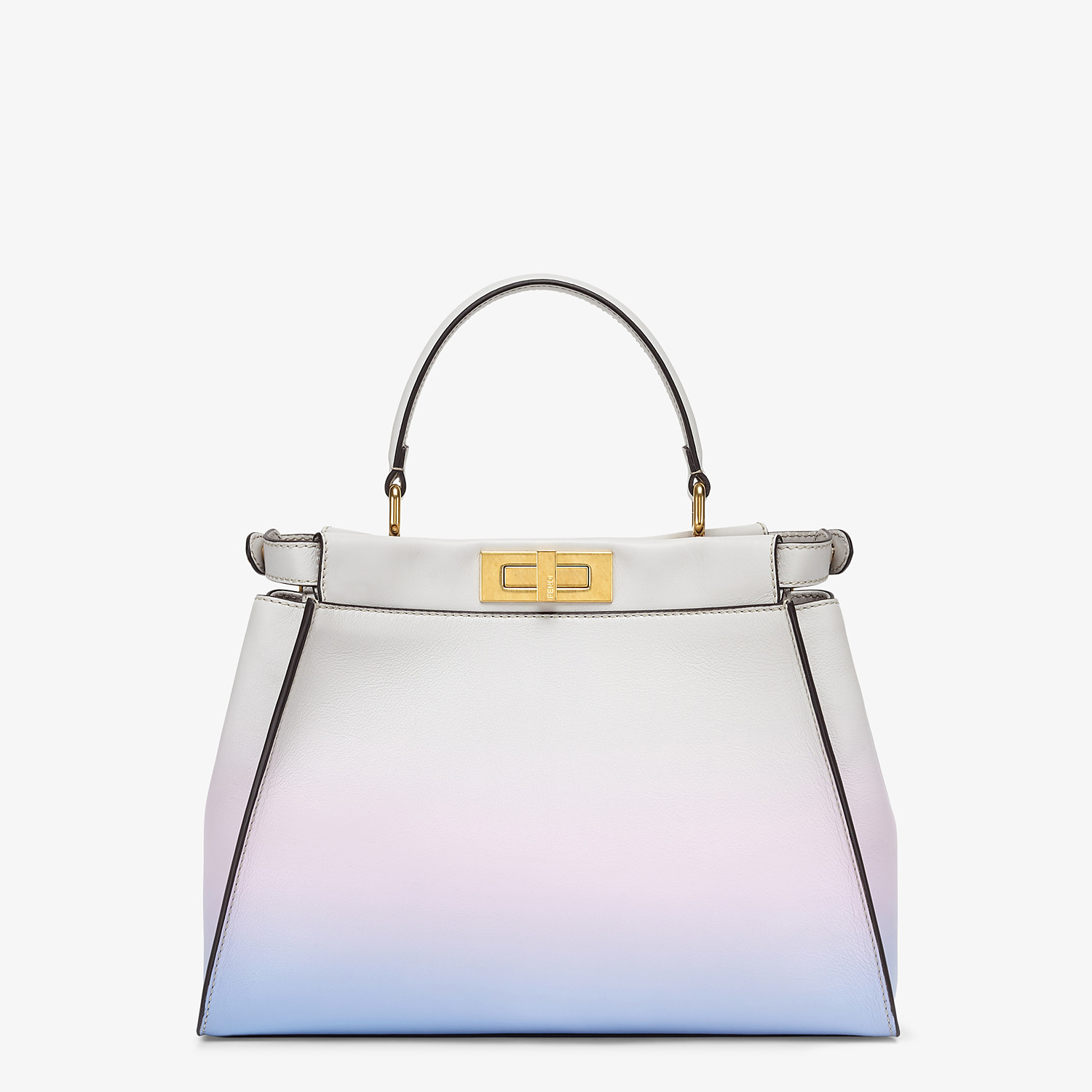 FENDI PEEKABOO ICONIC MEDIUM - Leather bag in graduated colors - view 4 detail