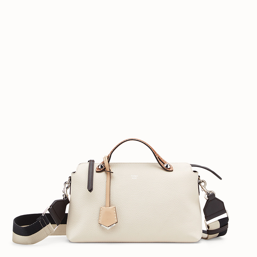 FENDI BY THE WAY REGULAR - White leather Boston bag - view 1 detail