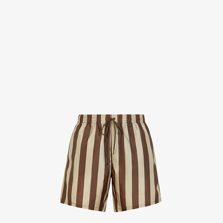 FENDI SWIM SHORTS - Multicolor tech fabric shorts - view 1 detail
