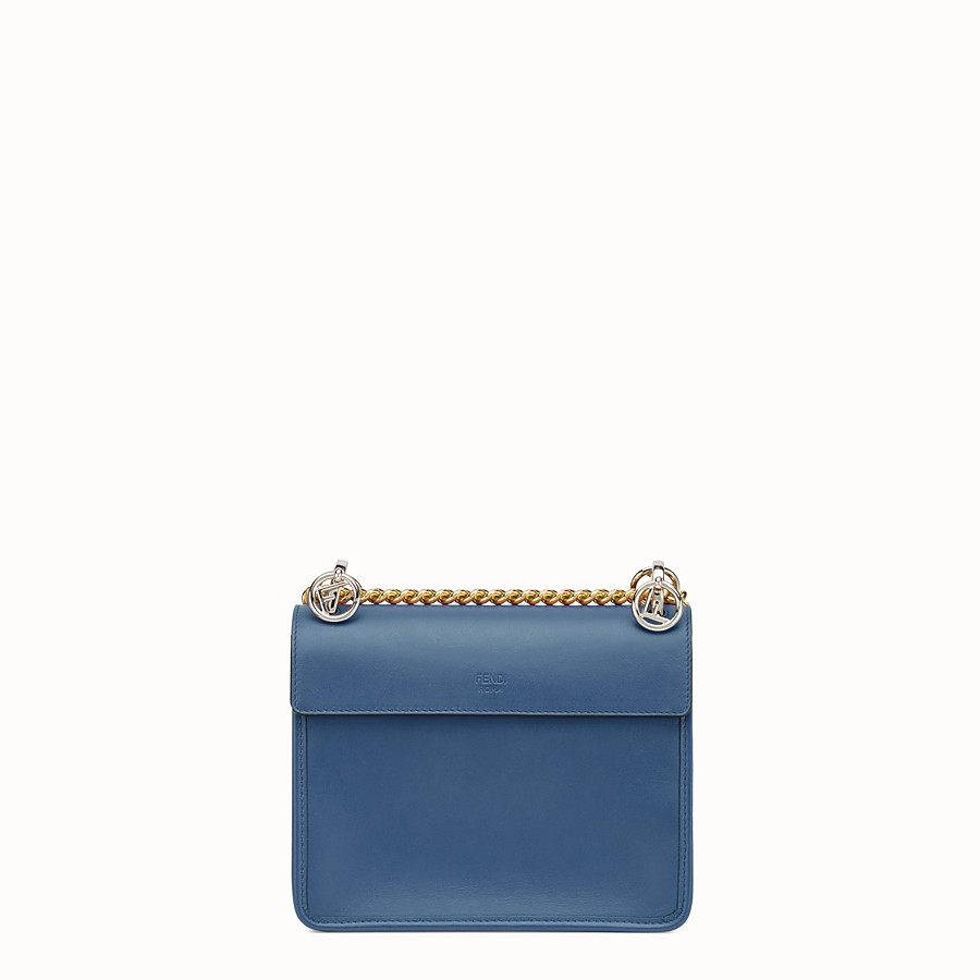FENDI KAN I F SMALL - Dark blue leather mini-bag - view 3 detail