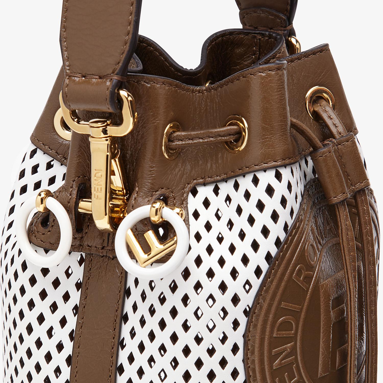 FENDI MON TRESOR - Minibag in pelle bianca - vista 6 dettaglio