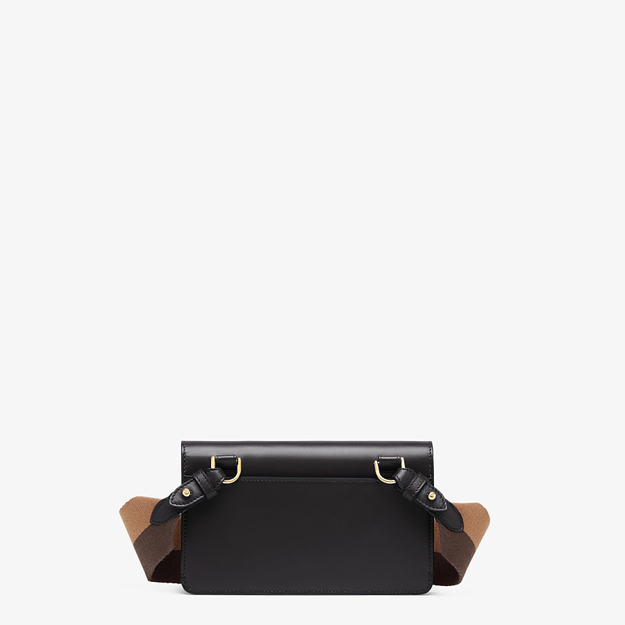 FENDI FLAT BAGUETTE - Black leather mini-bag - view 4 detail