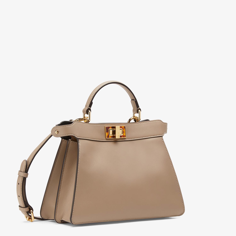FENDI PEEKABOO ISEEU SMALL - Dove gray leather bag - view 3 detail