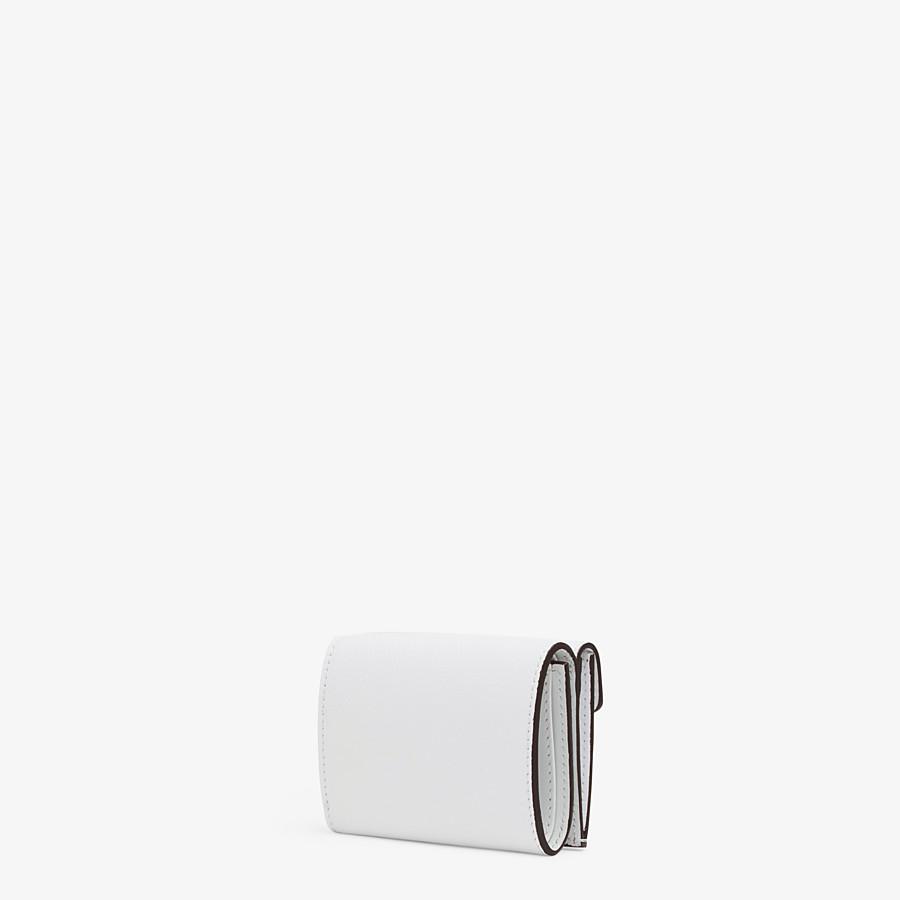 FENDI MICRO TRIFOLD - White leather wallet - view 2 detail