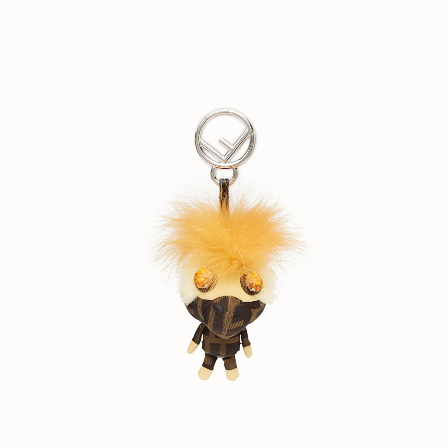 FENDI SPACE MONKEY - Multicolour fur charm - view 2 detail