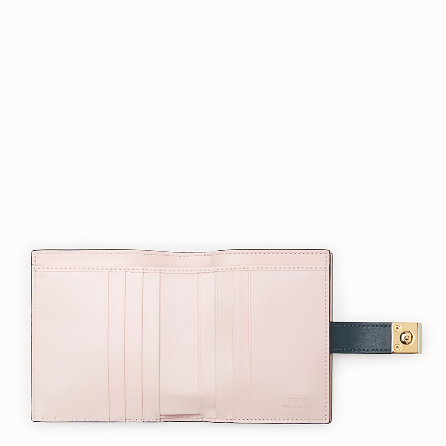 FENDI BIFOLD - Green leather compact wallet - view 5 detail