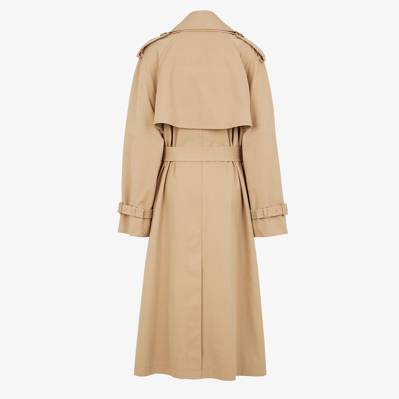 FENDI TRENCH COAT - Beige cotton trench coat - view 2 detail