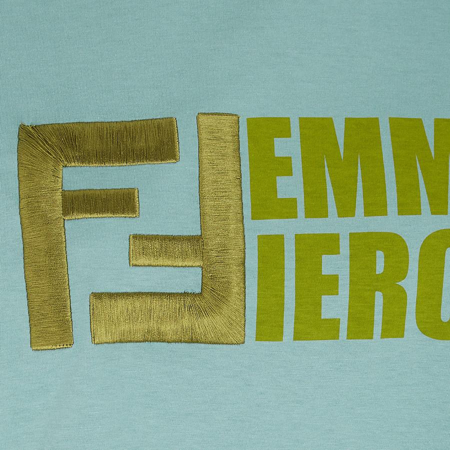 FENDI T-SHIRT - T-Shirt aus Baumwolle in Blau - view 3 detail