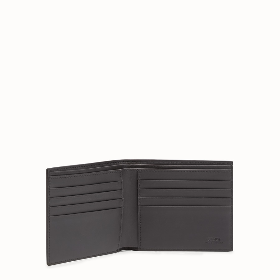 FENDI WALLET - Horizontal wallet in grey leather with insert - view 3 detail
