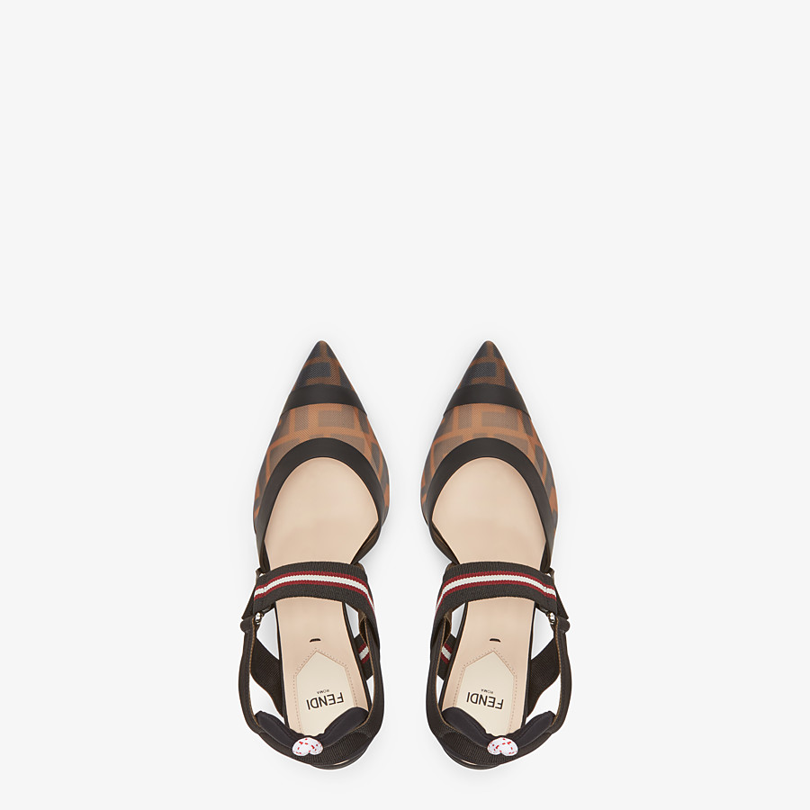 FENDI SLINGBACKS - Multicolor technical-mesh Colibrì - view 4 detail