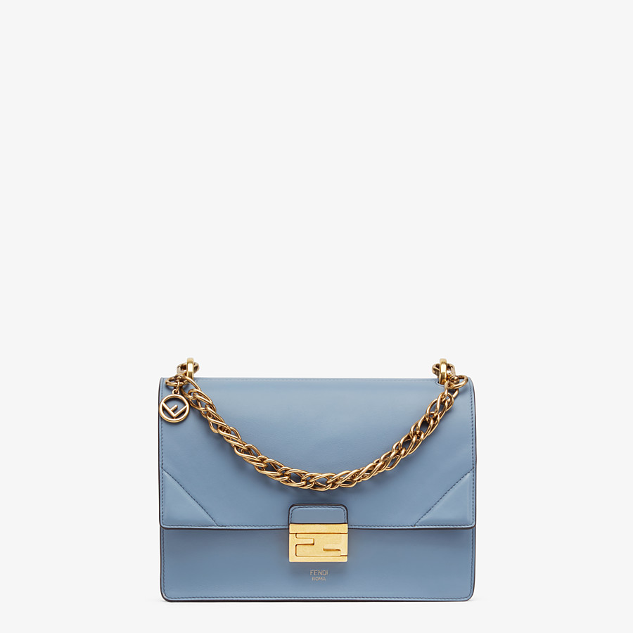 FENDI KAN U - Light blue leather bag - view 1 detail