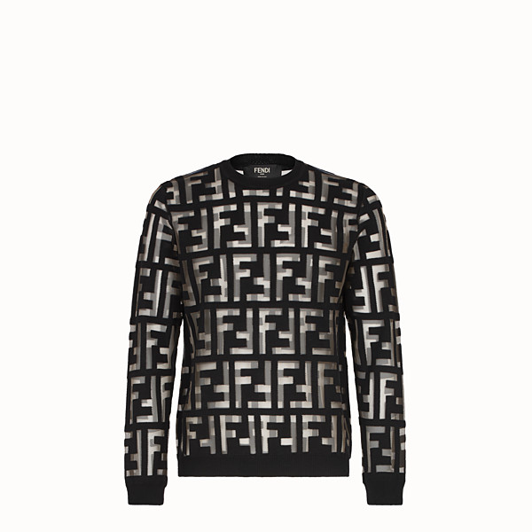 FENDI PULLOVER - Black wool jumper - view 1 small thumbnail