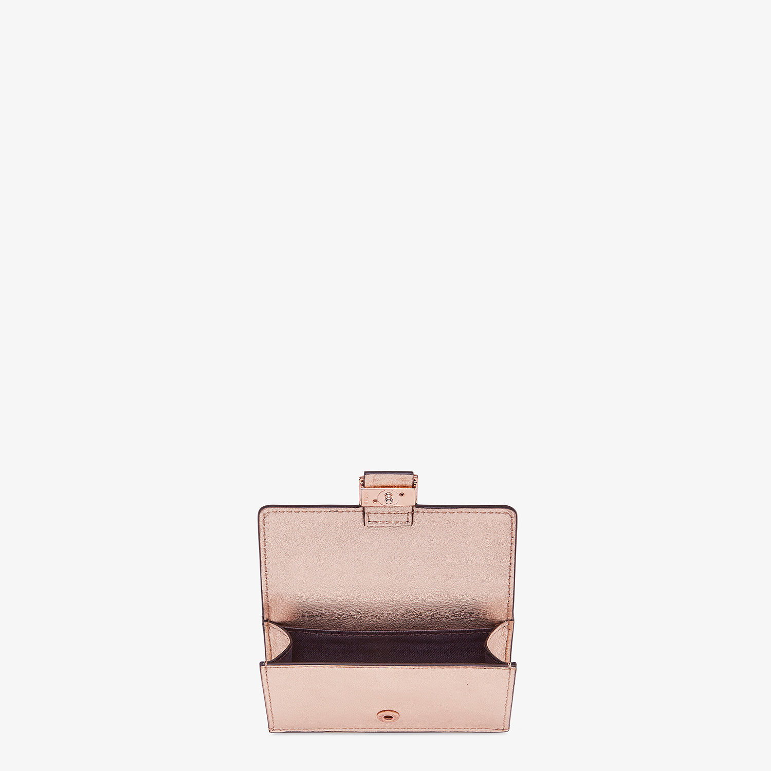 FENDI CARD HOLDER - Pink leather cardholder - view 3 detail