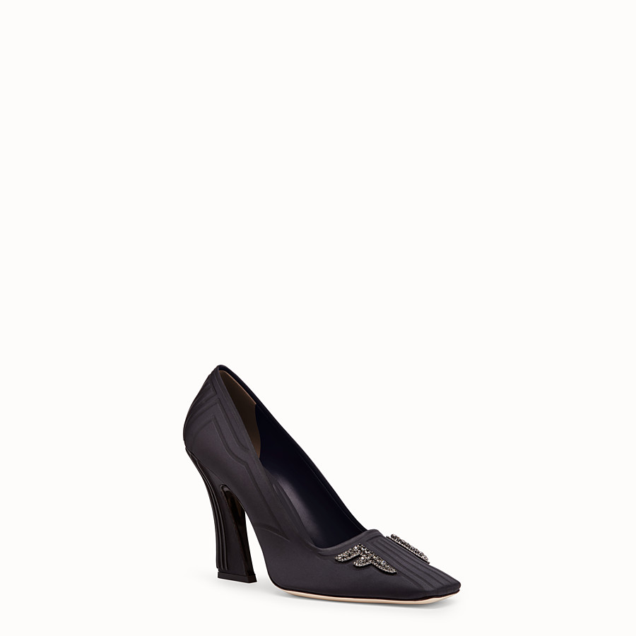 FENDI COURT SHOES - Court shoes in black satin - view 2 detail
