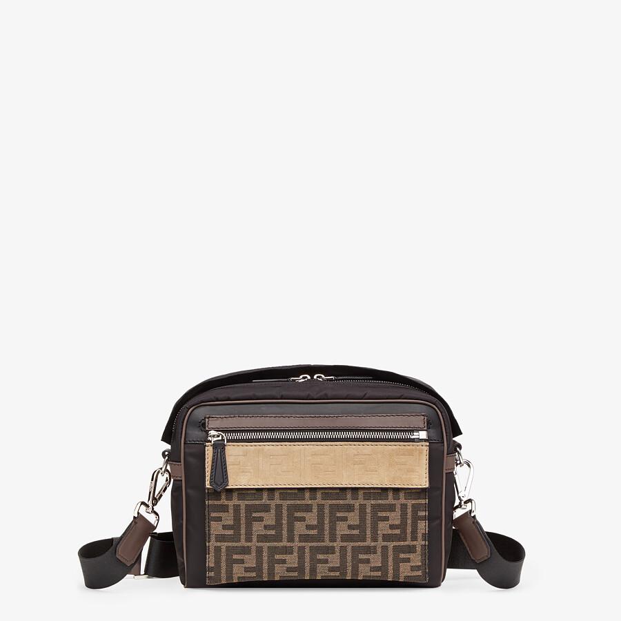 FENDI MESSENGER - Black nylon bag - view 1 detail