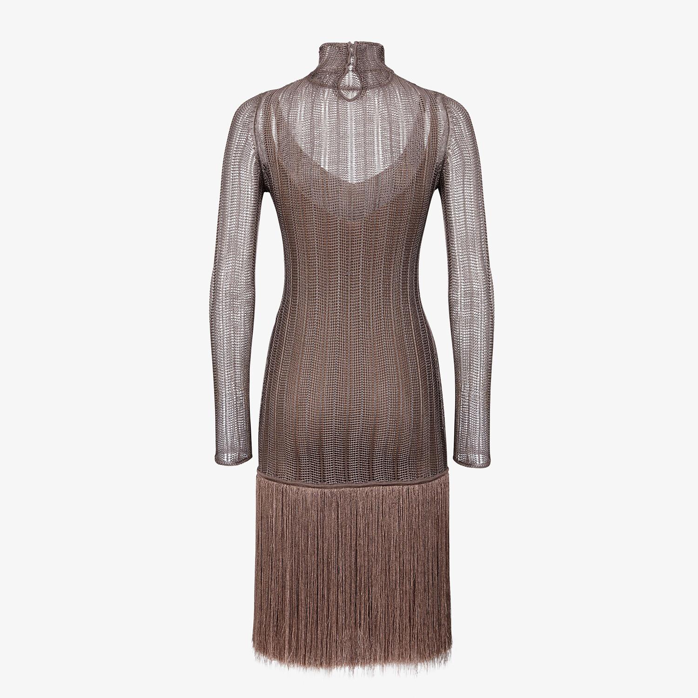 FENDI DRESS - Brown viscose dress - view 2 detail