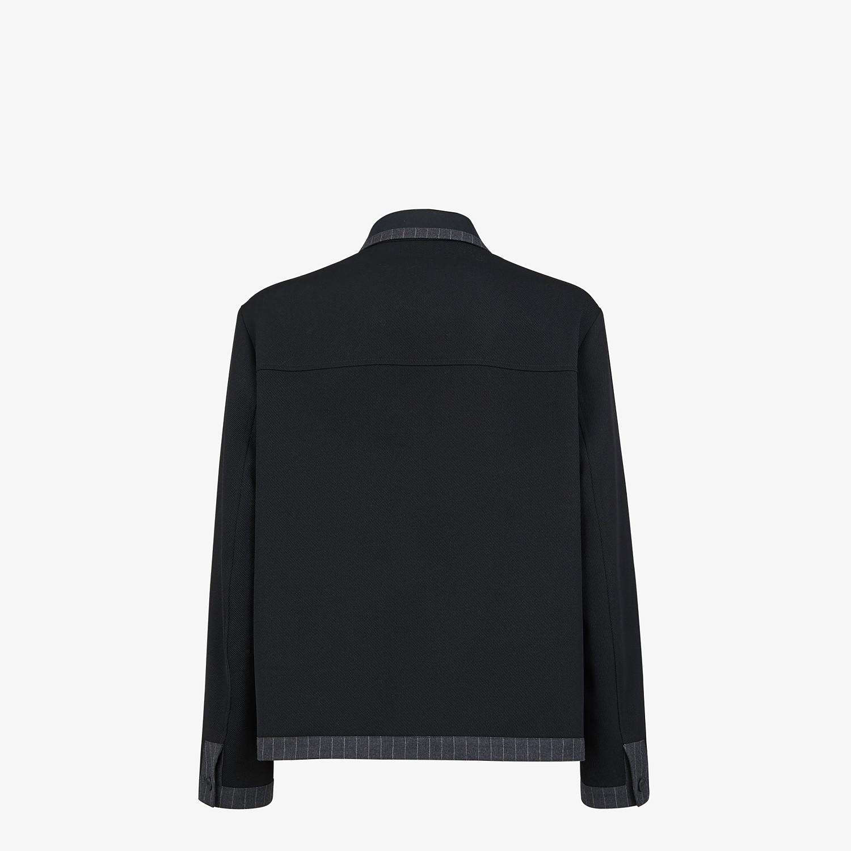 FENDI JACKET - Blue wool jacket - view 2 detail