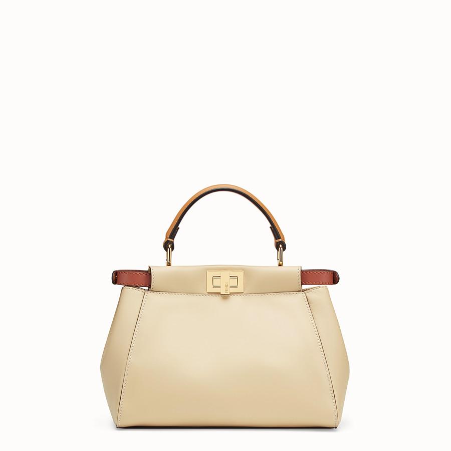 FENDI PEEKABOO MINI POCKET - Beige leather bag - view 3 detail