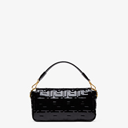 FENDI BAGUETTE - Black vinyl bag - view 4 thumbnail