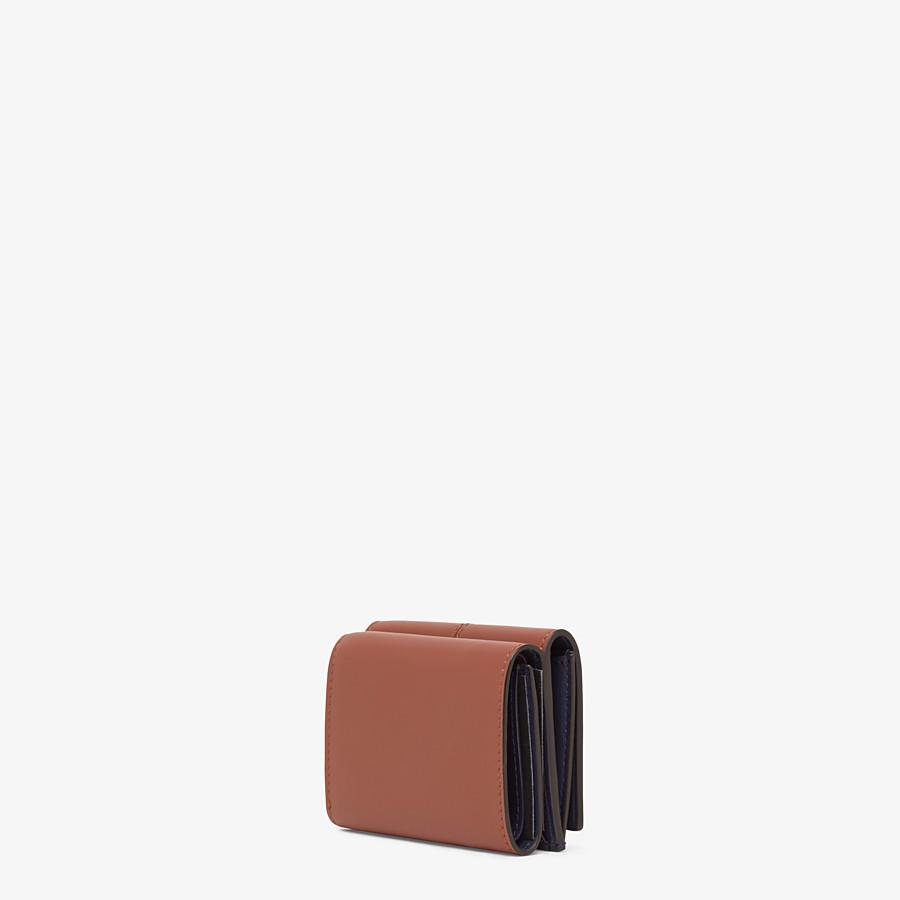FENDI MICRO TRIFOLD - Brown leather wallet - view 2 detail