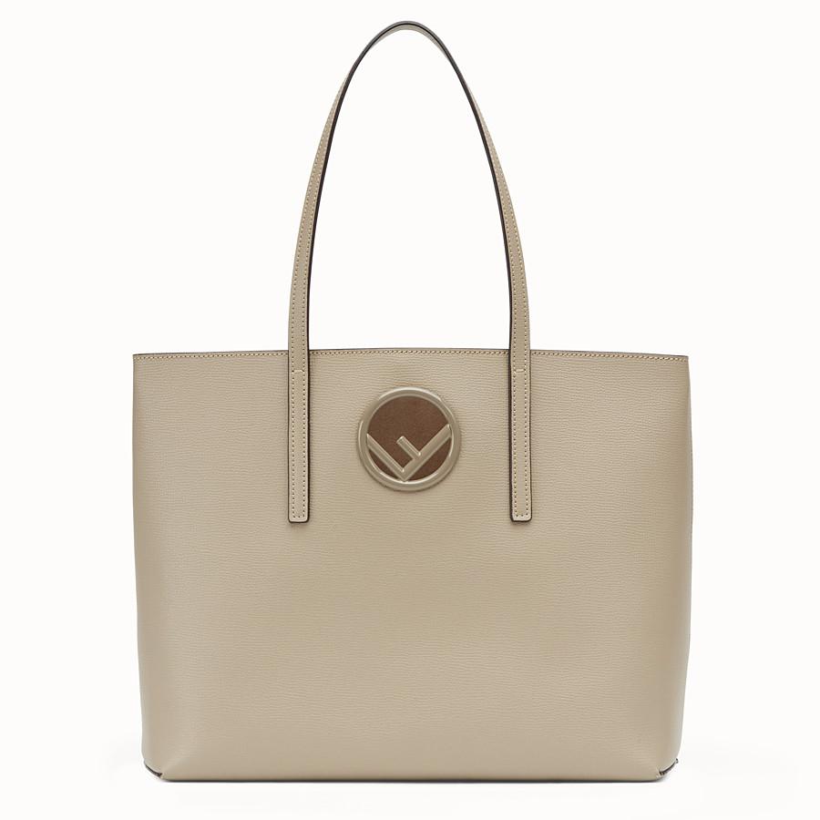 f01a6646d12f Beige leather shopper bag - SHOPPER | Fendi