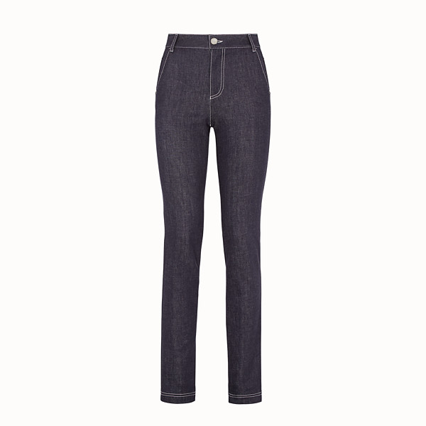 FENDI PANTS - Blue denim pants - view 1 small thumbnail
