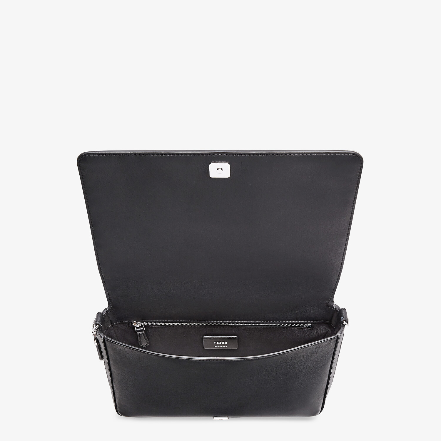 FENDI MESSENGER - Black nappa leather bag - view 5 detail