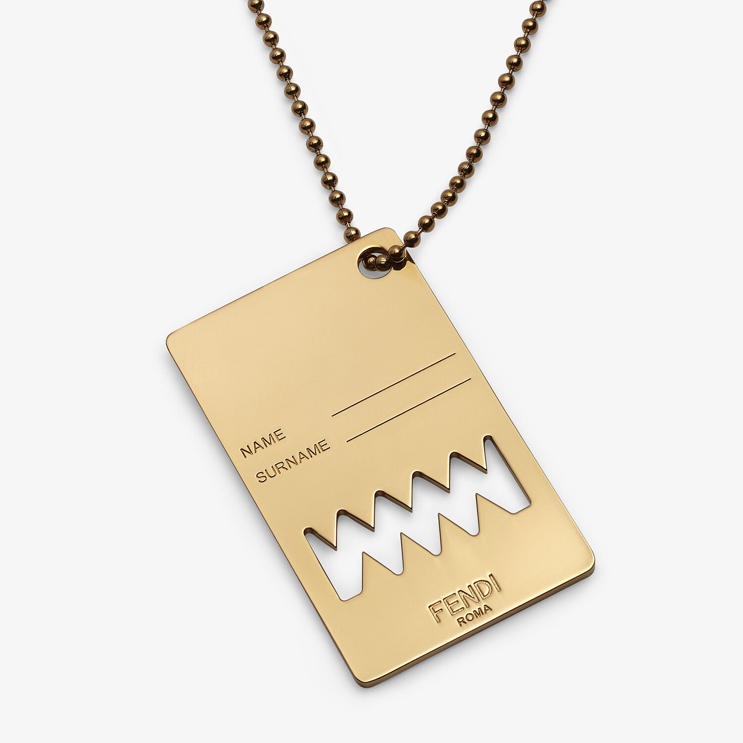 FENDI NECKLACE - Gold-colored necklace - view 2 detail