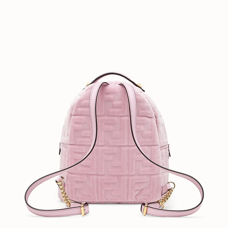 FENDI MINI BACKPACK - Small velvet backpack - view 3 detail