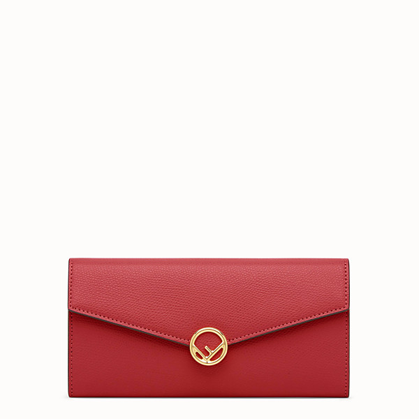 FENDI PORTEFEUILLE CONTINENTAL - Portefeuille en cuir rouge - view 1 small thumbnail