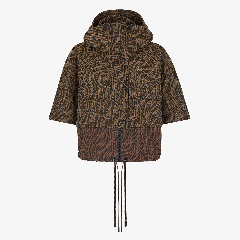 FENDI JACKET - Brown canvas jacket - view 4 detail