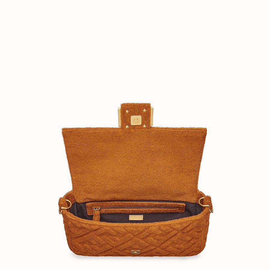 FENDI BAGUETTE - Brown terry bag - view 4 detail