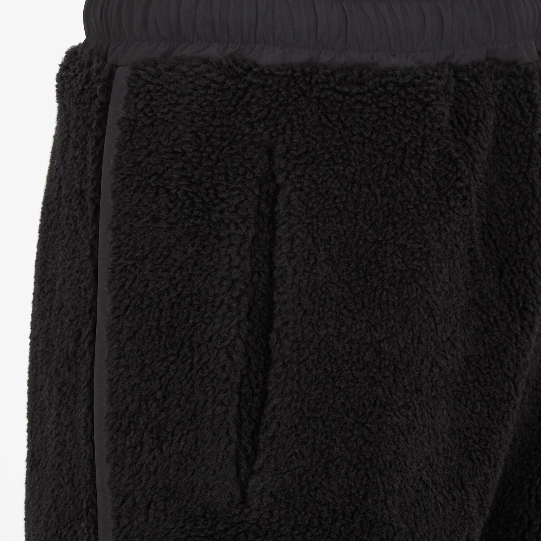 FENDI PANTS - Black wool pants - view 3 detail