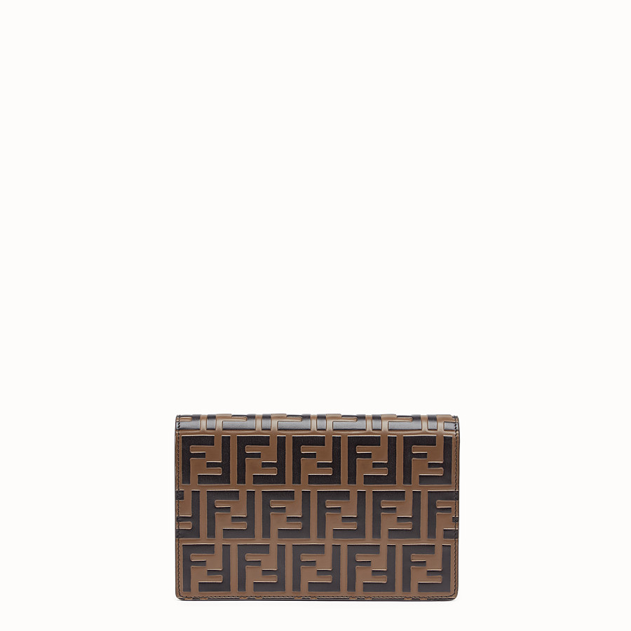 FENDI WALLET ON CHAIN - Red leather minibag - view 3 detail