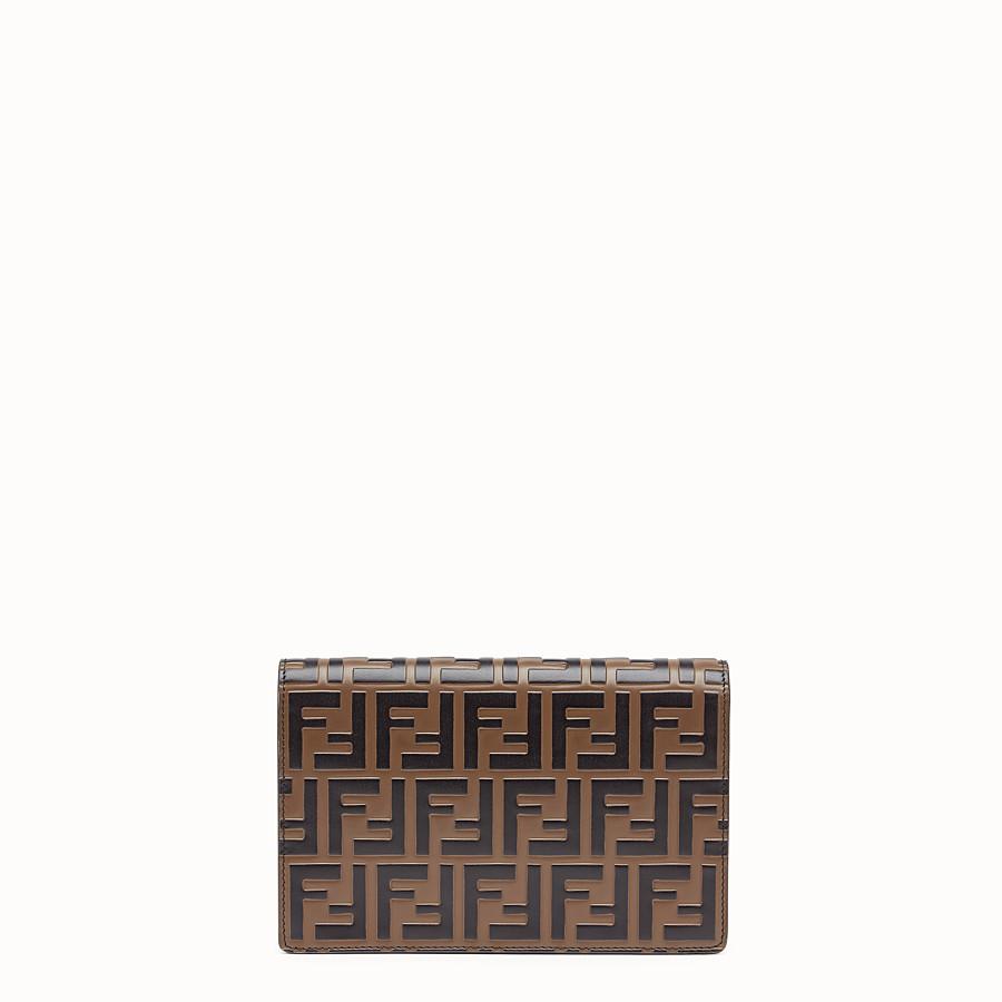 FENDI WALLET ON CHAIN - Minibag in pelle rossa - vista 3 dettaglio