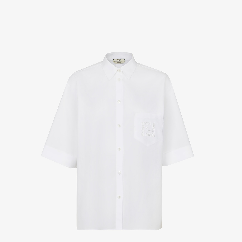 FENDI SHIRT - White poplin shirt - view 1 detail