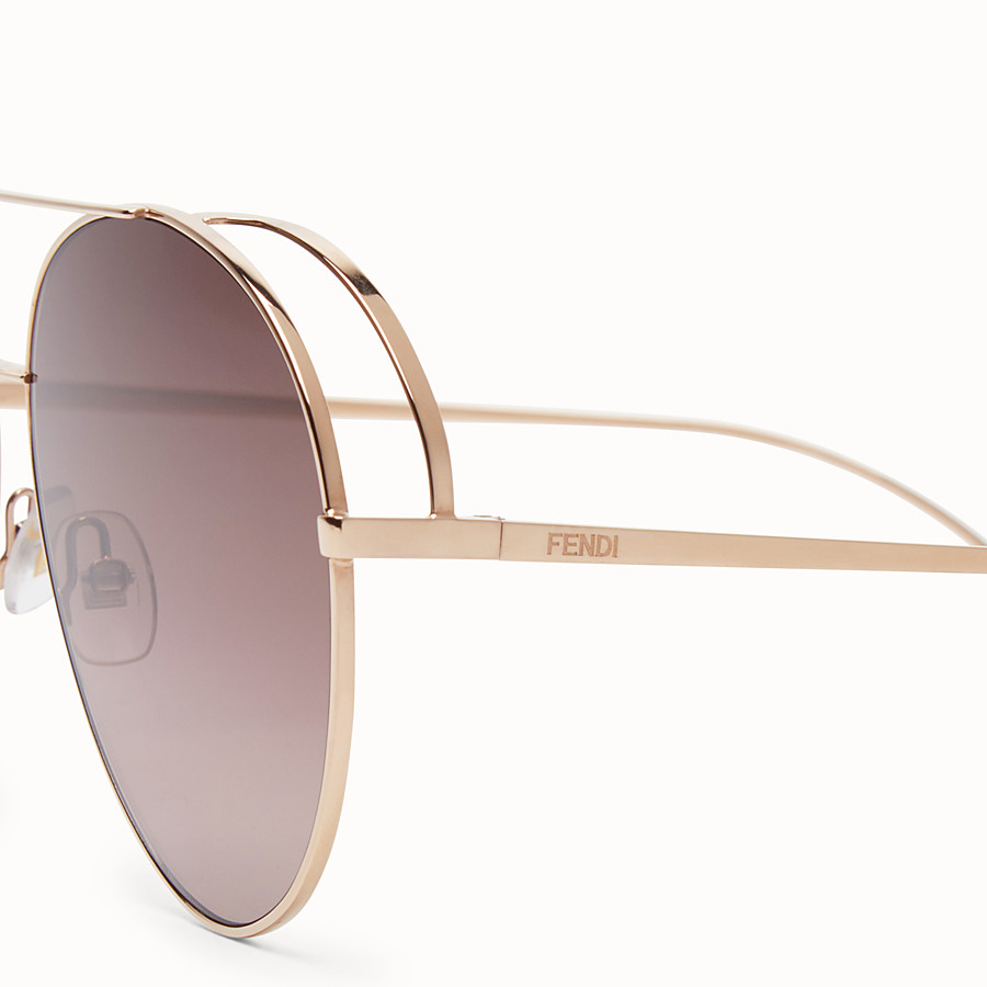 FENDI RUN AWAY - Copper-colour sunglasses - view 3 detail