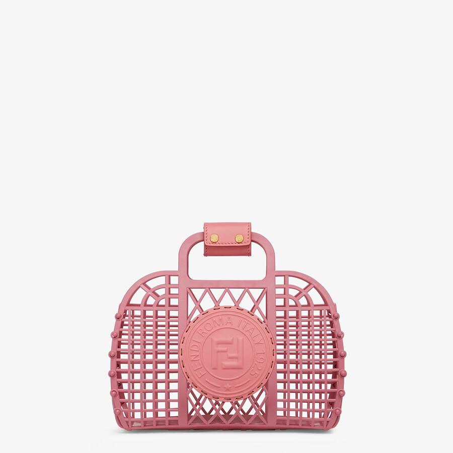 FENDI FENDI BASKET SMALL - Pink recycled plastic mini-bag - view 1 detail